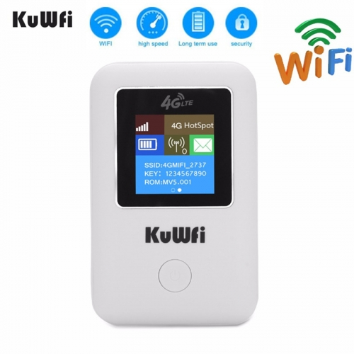 KUWFI smart mini  4G Wifi Router Portable 3G/4G SIM Card Router Unlocked Portable Pocket Wi-fi Hotspot Card Wi-fi Router With Sim Card Slot  Mini Port